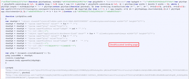 Fig 4. De-obfuscated RIG Exploit Kit landing page